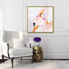 Pink6x6-24x24in Giclee Abstract Fine Art by ParimaCreativeStudio