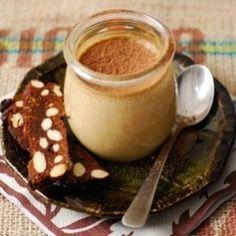 Cafe Latte Pots with Fig Panforte