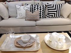 Loving this monochrome mix with a touch of blush in our Sydney store!