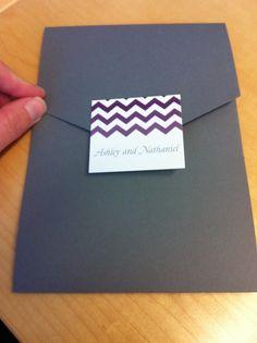 Invitations. Chevron. Purple.