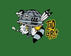 Toad Girl T-Shirt Designed by Baz