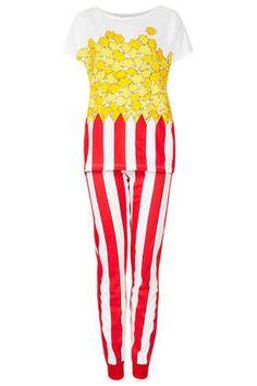 Ensemble pyjama à motif pop-corn