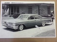 """1959 Pontiac Star Chief 4 door Sedan 12 X 18"""" Black & White Picture *"""