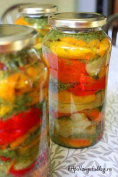 Сладкие перцы в масле. Пошаговый фото-рецепт на моем блоге. #vegetables, #food…