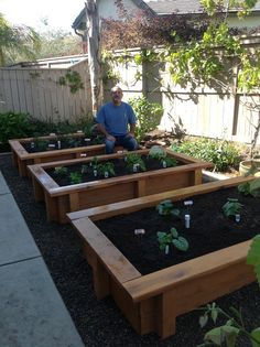 Early planter box planting...so excited to watch things grow...I hope to do a lot of canning!!