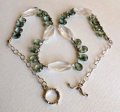 Mystic Green Quartz Necklace with Lots of Sterling Silver