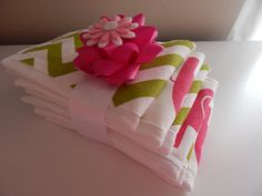 Chevron Lime Green and Pink Elephant  Baby by luvstobecreative, $35.00