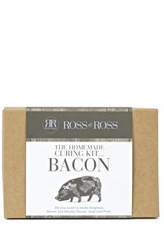 Everything you need to make your own original, sweet and smoky cured bacon at home. Just add pork! The perfect gift for the foodie who has everything. Logo Color, Wine Recipes, The Cure, Pork, Things To Come, Homemade, Kit, The Originals