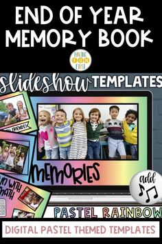 Celebrate the end of the school year with this exciting and memorable digital end of the year memory book! With over 87 unique frames, 170 customizable frames, clip art personalized to grade level & year, & much more, this memory book will help students remember the school year together. Create a unique & digital keepsake with students during the end of year while also keeping students engaged! Learn more, see the previews, & grab yours now! #endofyear #memorybook End Of Year Activities, Summer Activities, School Recess, Class Presentation, Fiction And Nonfiction, Memory Books, Fun Math, Learning Resources, Distance