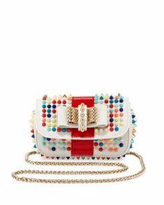 V1UC0 Christian Louboutin Sweet Charity Small Spiked Crossbody Bag