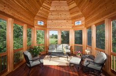 Beautiful three season porch!! Would love this Art Studio At Home, Home Art, Relaxation Room, Relaxing Room, Three Season Porch, Porch Addition, Home Porch, Interior Design Photos, Amazing Spaces