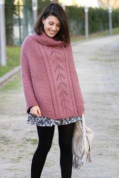 I love Fita Métrica: Knit Poncho