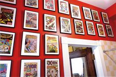 braxton and yancey: Comic Book Art – Rocket Fuel for Spank Me Home Décor Comic Book Rooms, Comic Book Frames, Comic Books Art, Comic Room, Comic Art, Comic Book Storage, Comic Book Display, Book Displays, Vintage Comic Books
