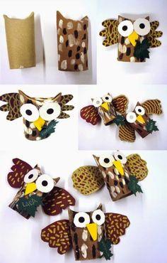 Sowy z papieru - super zabawka dla dzieci