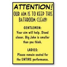 Funny Office Bathroom Etiquettemichelle Burleson  Office New Bathroom Etiquette Signs For Office Decorating Design