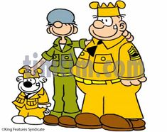Free drawing of Beetle Bailey & Sarge from the category -People ...