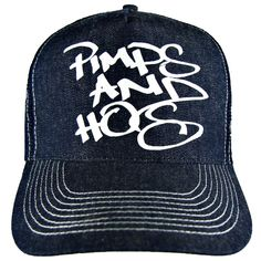 Pimps And Hos Denim Trucker Hat | Lost Angels And Kings