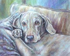Original Dog Art-Dog Painting-Weimeriener'Skye' by FerraroFineArt