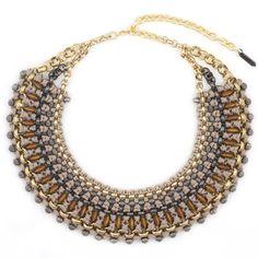 Large Zari collar necklace by Sollis. WWW.SOLLISJEWELLERY.COM