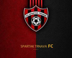 FC Spartak Trnava, FC, 4k, Slovak football club, logo, leather texture, Fortuna liga, Trnava, Slovakia, football