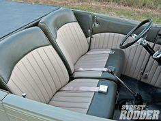 '29 Ford interior. Car Interior Sketch, Ford Interior, Custom Car Interior, Truck Interior, Car Interior Upholstery, Futuristic Cars, Car Photos, Amazing Cars, Car Car