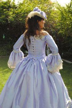 Antoinettes Romance Gown Off Shoulder Lace Back Custom