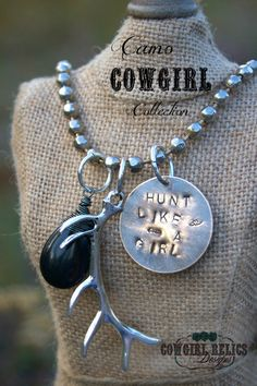 Western Charm NecklaceDeer Hunter Camo by cowgirlrelicsdesigns, $35.00