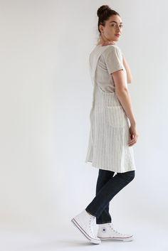 Tennis Stripe Linen Apron