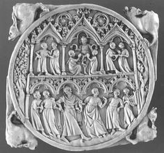 Valve of mirror courtyard of God Love Museum of Louvre, France Gothic Mirror, French Mirror, Grand Palais, Renaissance Art, 14th Century, Ivoire, Antlers, Wooden Boxes, Gods Love