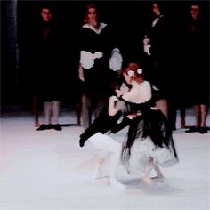Uliana Lopatkina and Xander Parish as Marguerite Gautier and Armand Duval in Mariinsky Ballet's Marguerite and Armand.