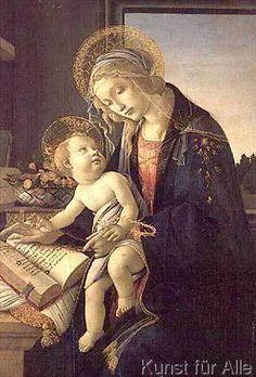 Sandro Botticelli - The Virgin Teaching the Infant Jesus to Read