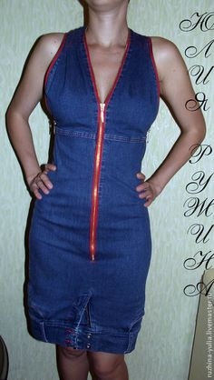 Джинсовое платье. Handmade.