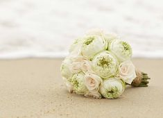 Green peony bouquets are a beautiful look for the modern bride
