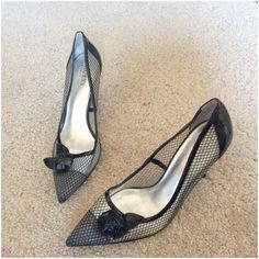 Guess By Marciano Black Embellished Pumps Heels