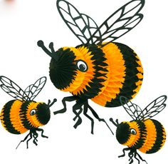 Tissue Paper Bees These Would Look Great Hanging Over My Reading Corner In Bee