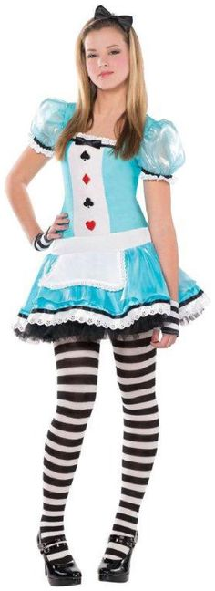 A great Clever Alice Teen Costume. A fun party try Alice in Wonderland Costumes for Birthday, Halloween at PartyBell. Teen Girl Costumes, Halloween Costumes For Teens Girls, Halloween Costumes For Girls, Adult Costumes, Costume Halloween, Woman Costumes, Cartoon Costumes, Turtle Costumes, Costumes Kids