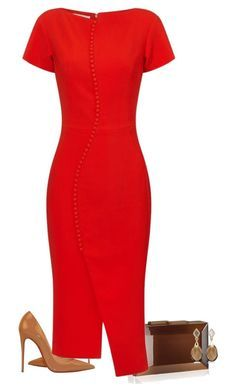 the pencil dress by paolanoel on Polyvore featuring polyvore fashion style Antonio Berardi Christian Louboutin Rauwolf