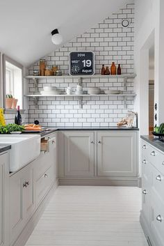 Neutral Scandinavian Kitchen - Scandinavian Interiors