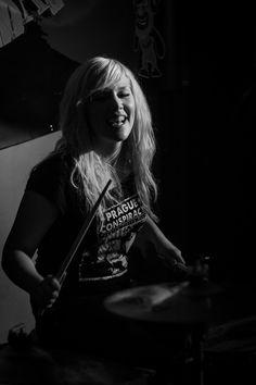 Punk girl, drumer