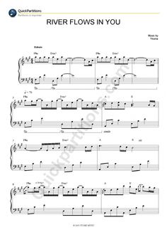 Partition Piano River Flows In You - Yiruma
