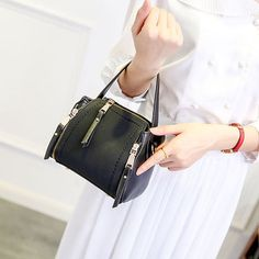 6aded1cbd Stylish PU Leather Small Square Shoulder Bag Multi-pockets Crossbody Bag  For Women Shopping Bags