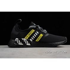 3a522262a OFF-White Adidas NMD R1 Black White Yellow Shoes Discount Adidas Nmd R1