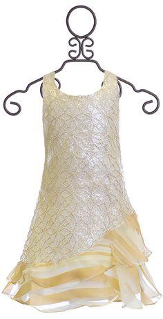 d84f8f471a73 Halabaloo Ivory Bouquet Flare Girls Holiday Dress $69.00 // flower ...