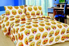 3pc Emoji Bedding Set - 3 Designs!