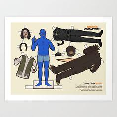 "Blue Man Edition Tobias Fünke, ""Arrested Development"" Art Print by Kyle Hilton - $16.00"
