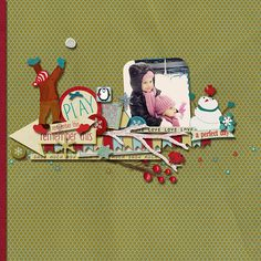 "Created with  ""Snow Much"" {mini page kit} by ForeverJoy Designs"