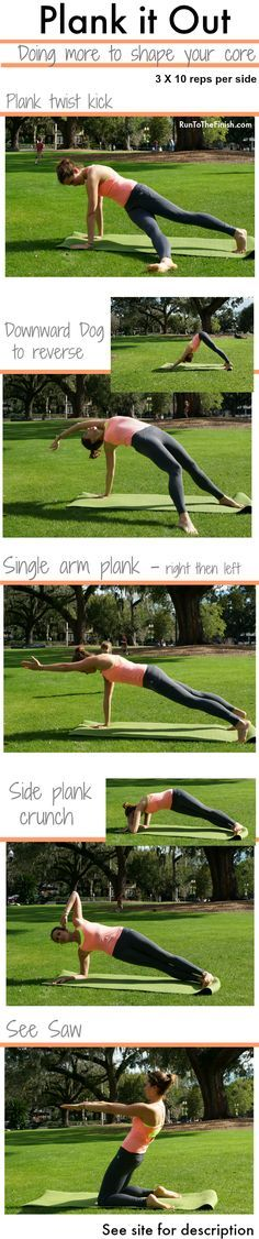 Plank it out Ab Workout - using dynamic moves to shape core