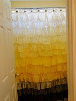 Anthro copy cat homemade ruffled shower curtain