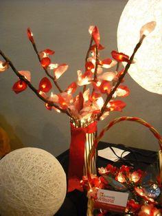 Floral lamp - handmade