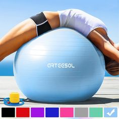Arteesol Exercise Ball / / / Anti-burst Anti-slip Yoga Swiss Ball Birthing Ball Quick Pump Fitness Gym Yoga Pilates Core Training Physical Therapy Parts Shoes-Accessories Supplies-Equipment Splints-Slings Neck-Shoulder Supports Supports Technology Birthing Ball, Le Pilates, Physical Therapy, Watch Bands, Gym Workouts, Physics, Pumps, Train, Girls Hoodies